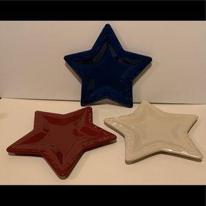 LONGABERGER POTTERY STAR PLATES.